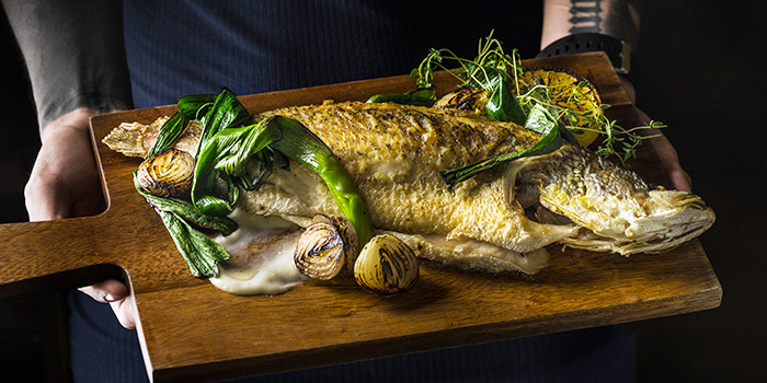 Whole Seabass from Fat Prince in Tanjong Pagar, Singapore