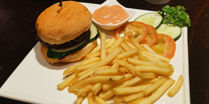Burger from Foresta Restaurant & Bar in Dempsey, Singapore