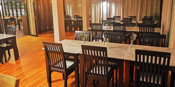 Interior of Foresta Restaurant & Bar in Dempsey, Singapore