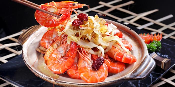 Herbal Drunken Prawn from G7 Sin Ma Live Seafood and Frog Porridge in Kallang, Singapore