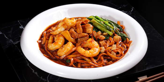 Hokkien Mee from G7 Sin Ma Live Seafood and Frog Porridge in Kallang, Singapore