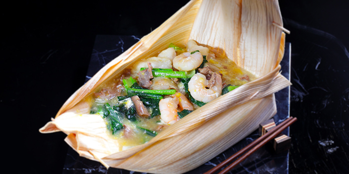 Opeh Leaf Hor Fun (Seafood & Chicken Gizzard) from G7 Sin Ma Live Seafood and Frog Porridge in Kallang, Singapore