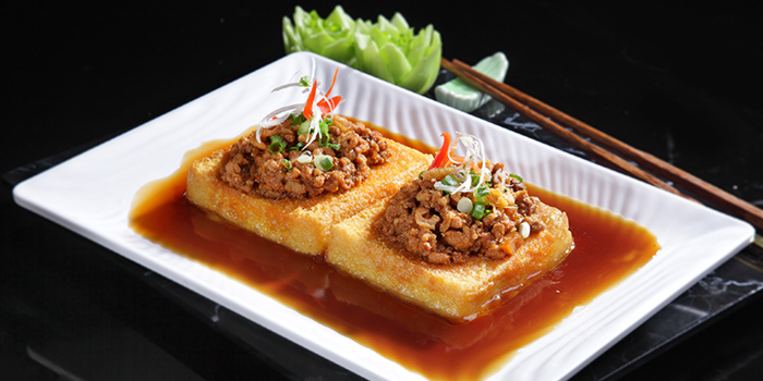 Specialty Beancurd w Minced Meat from G7 Sin Ma Live Seafood and Frog Porridge in Kallang, Singapore