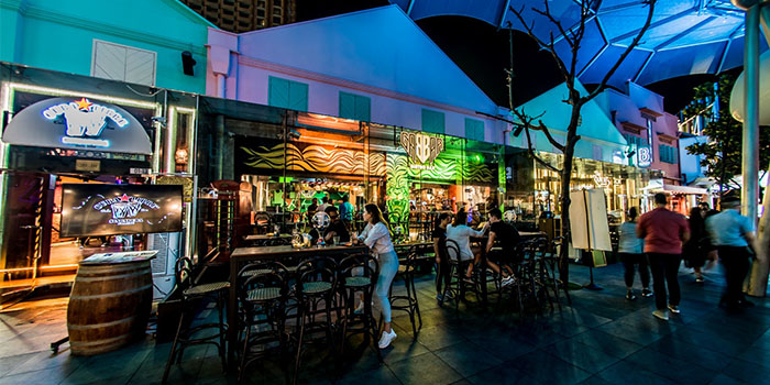Exterior of Gabbar Bistro & Bar in Clarke Quay, Singapore