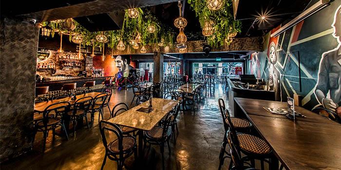 Interior of Gabbar Bistro & Bar in Clarke Quay, Singapore