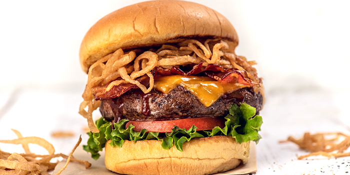 Burger from Hard Rock Cafe (Cuscaden) at HPL House in Tanglin, Singapore