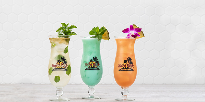 Cocktails from Hard Rock Cafe (Cuscaden) at HPL House in Tanglin, Singapore