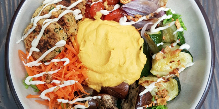 Mediterranean Buddha Bowl from Kitchen by Food Rebel in Telok Ayer, Singapore