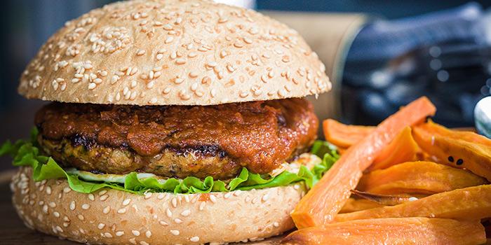 Rebel Chicken Burger from Kitchen by Food Rebel in Telok Ayer, Singapore