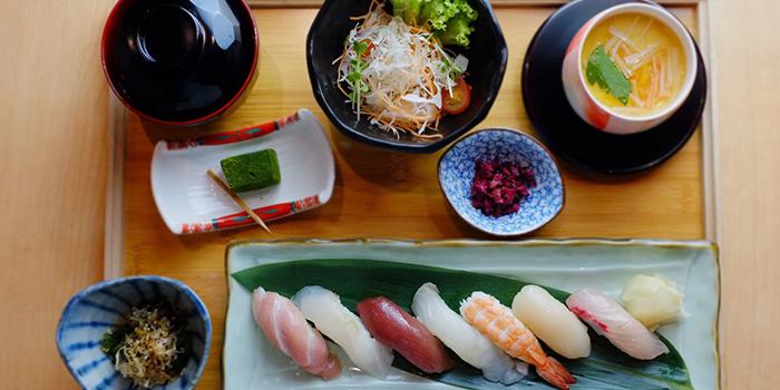 Nigiri Set Lunch from Katachi Style Sushi in City Hall, Singapore