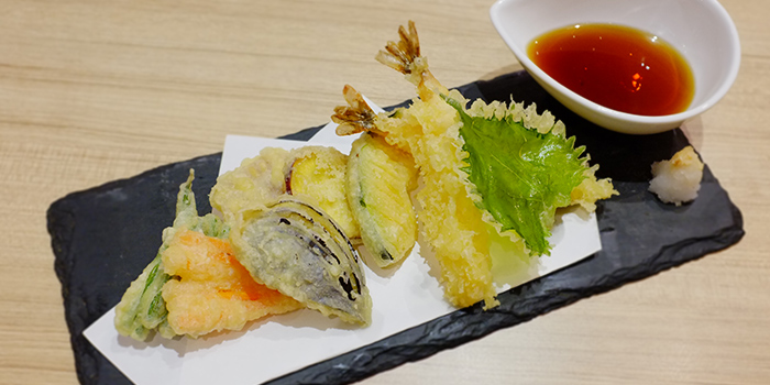 Prawn and Vegetable Tempura from Katachi Style Sushi in City Hall, Singapore