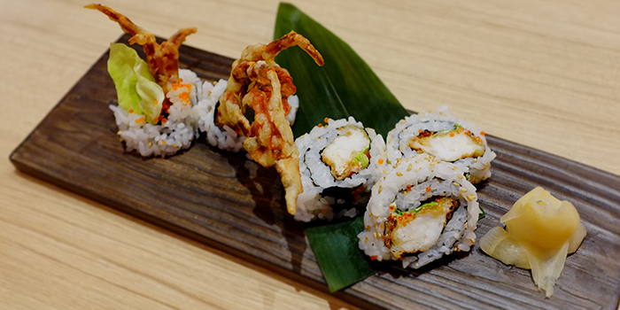 Soft Shell Crab Roll from Katachi Style Sushi in City Hall, Singapore