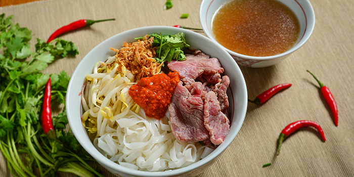 Sliced Beef Noodles from MooTeow Chilli Beef Kway Teow in Boat Quay, Singapore