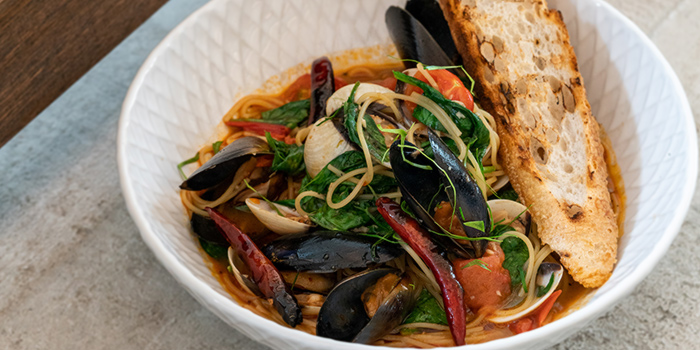 Lemograss Mussel & Clam Spaghettini from PS.Cafe East Coast Park at Cyclist Park in East Coast, Singapore