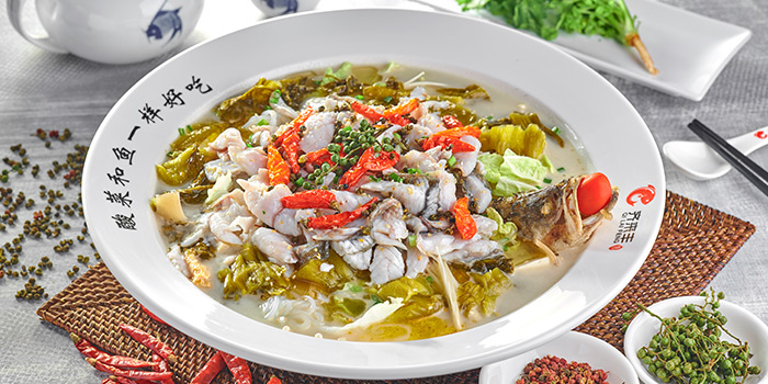 Sauerkraut Fish Pot from Qi Lai Feng (Chinatown Point) in Chinatown, Singapore