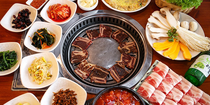 Side Dish from SU Korean BBQ at Peace Centre in Dhoby Ghaut, Singapore