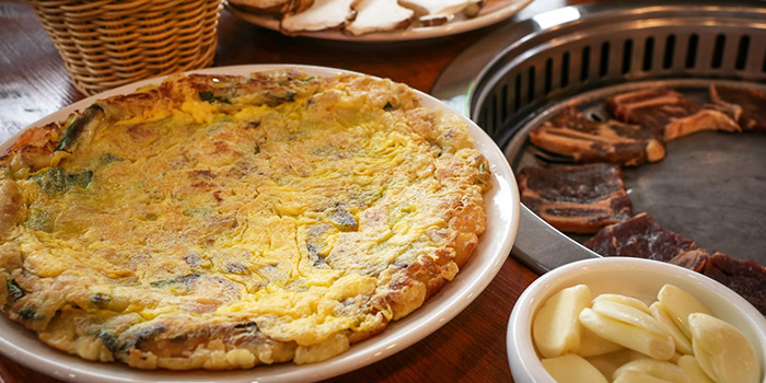 Seafood Pancake from SU Korean BBQ at Peace Centre in Dhoby Ghaut, Singapore