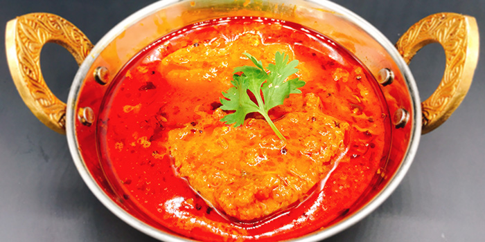 Chepala Pulusu (Fish Curry) from Sri Kumbhakarna (Race Course Road) in Little India, Singapore