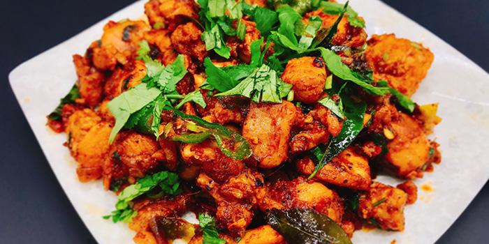 Nalla Miriyalu Kodi Vepudu (Black Pepper Chicken) from Sri Kumbhakarna (Syed Alwi) in Jalan Besar, Singapore