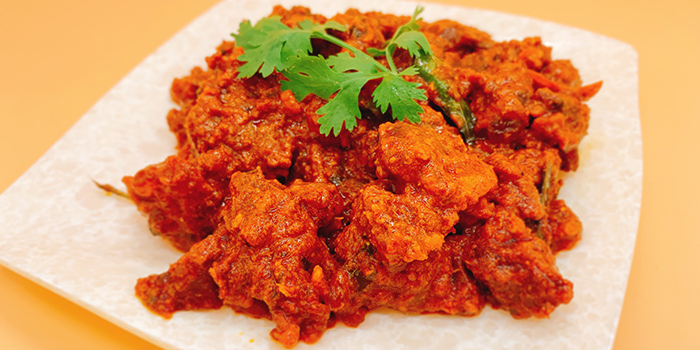 Spicy Mutton Fry from Sri Kumbhakarna (Syed Alwi) in Jalan Besar, Singapore