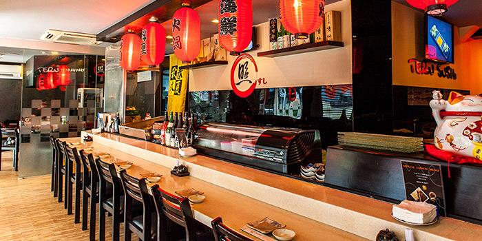 Interior of Teru Sushi in Tiong Bahru, Singapore