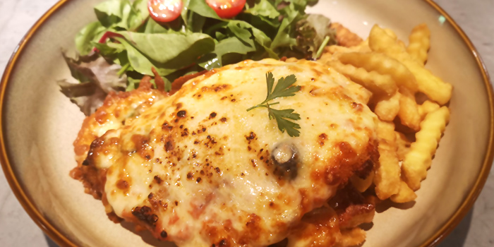 Cheesy Chicken Parma from The Fat Chook Company in Queenstown, Singapore