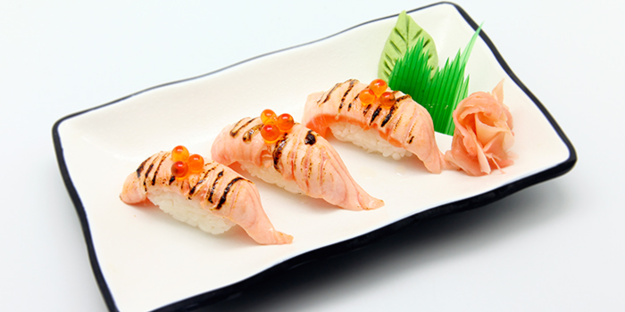 Torched Salmon Sushi from The Ramen House in Dhoby Ghaut, Singapore