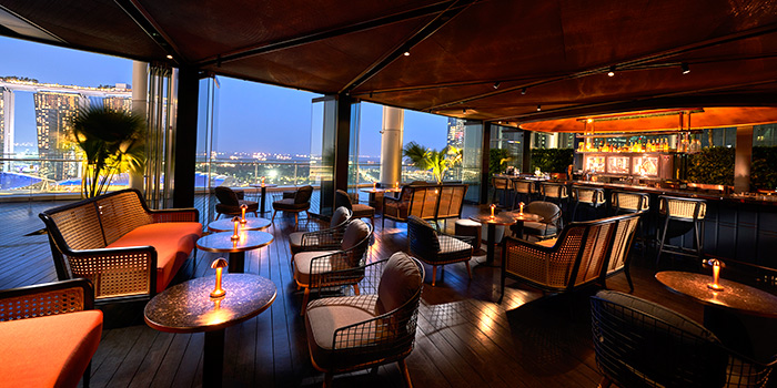 Interior of VUE at OUE Bayfront in Marina Bay, Singapore