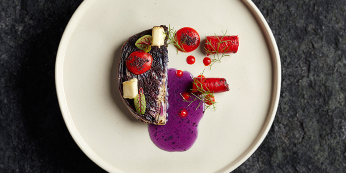 Grilled Purple Cabbage from VUE at OUE Bayfront in Marina Bay, Singapore