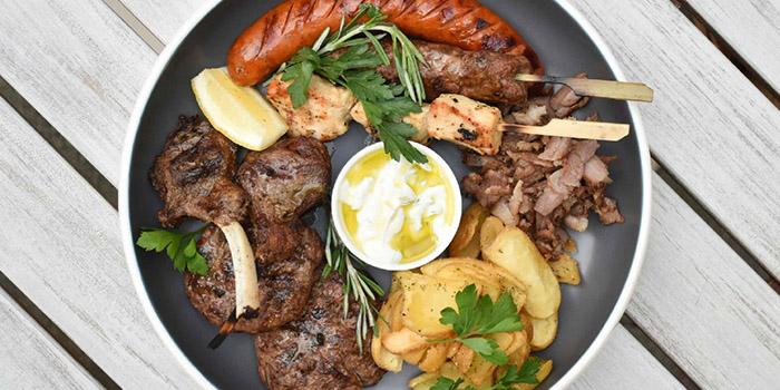 Mixed Platter from Zorba The Greek Taverna in Clarke Quay, Singapore