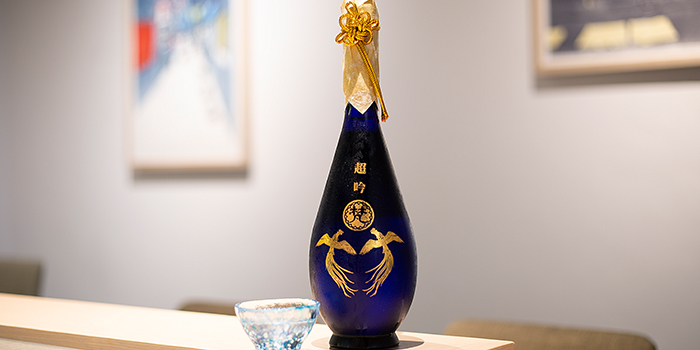 Sake from Miraku in Chinatown, Singapore