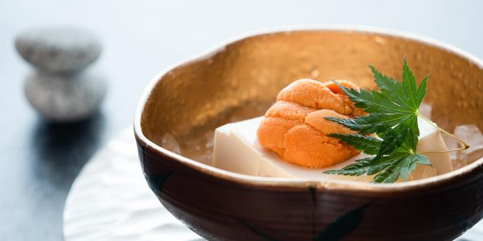 Sea Urchin Cold Beancurd, Unkai Japanese Restaurant, Tsim Sha Tsui, Hong Kong
