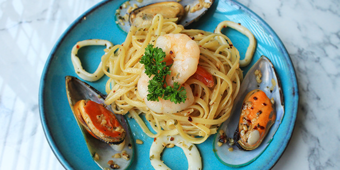 Seafood Aglio Olio from Good Bites at Bishan Sports Hall in Bishan, Singapore