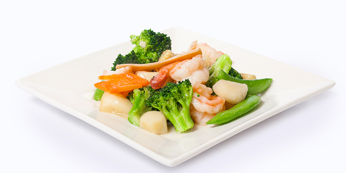 Seafood Combo with Assorted Vegetables from Dian Xiao Er (Waterway Point) in Punggol, Singapore