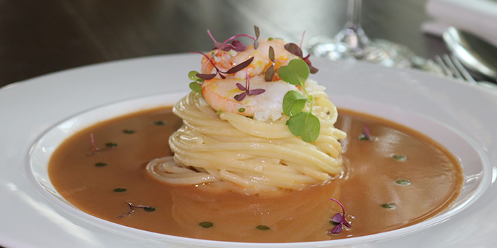 Spaghetti pasta with Spanner Crab from Zafferano Italian Restaurant & Lounge in Collyer Quay, Singapore