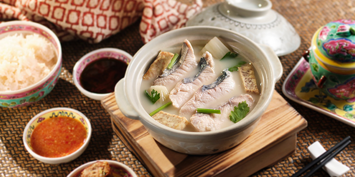 Whampoa Keng Fish Soup from The Lobby Lounge at Shangri-La Hotel in Tanglin, Singapore