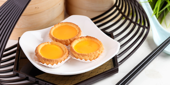 Traditional Egg Tart from The Dim Sum Place in Bugis, Singapore