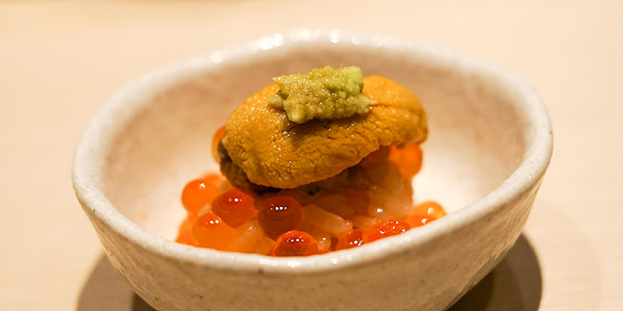 Uni Ikura from Sushi Ayumu in Orchard, Singapore