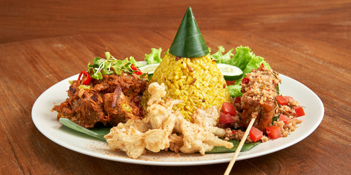 Vegan Rendang Platter at Burgreens, Menteng