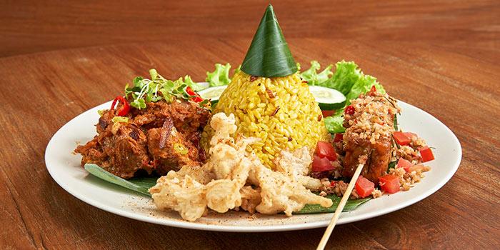 Vegan Rendang Platter at Burgreens (Kemang Village)