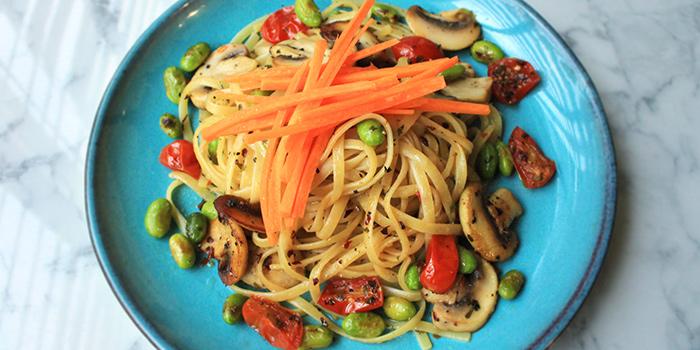 Vegetarian Aglio Olio from Good Bites at Bishan Sports Hall in Bishan, Singapore
