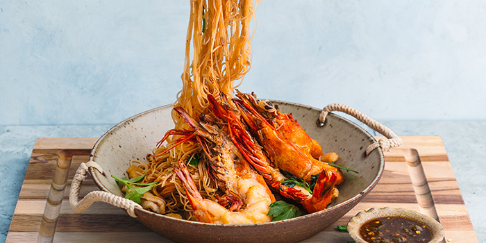 Wok Fried King Prawn White Bee Hoon from Tiger Street Lab at Jewel Changi Airport in Changi, Singapore