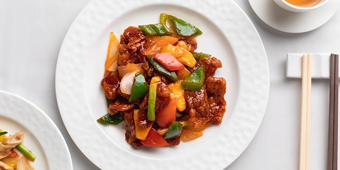 Sweet and Sour Pork with Diced Pineapple, Celebrity Cuisine, Central, Hong Kong
