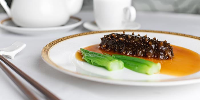 Braised Dried Sea Cucumber in Abalone Sauce, Celebrity Cuisine, Central, Hong Kong