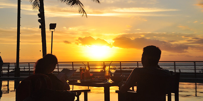 Ambience from Segara Seafood and Indonesian Restaurant, Kuta, Bali
