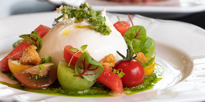 Burrata Salad from Lakorn European Brasserie at Rosewood Bangkok Hotel 1041/38 Ploenchit Road Lumpini, Pathumwan Bangkok