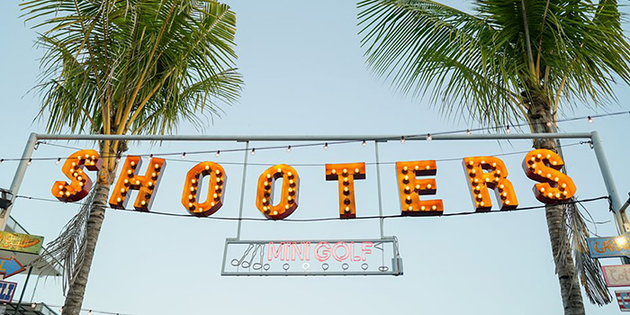 Signage from Shooters Bali