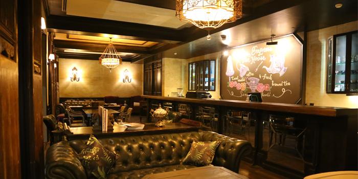 Indoorof Empress Teahouse in Rawai, Phuket, Thailand