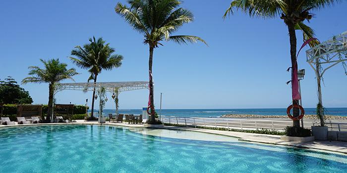 Pool from Segara Seafood and Indonesian Restaurant, Kuta, Bali