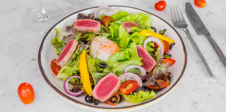 Salad from Cut Grill & Lounge in Lagoon Road, Boat Avenue, Cherngtalay, Talang, Phuket, Thailand